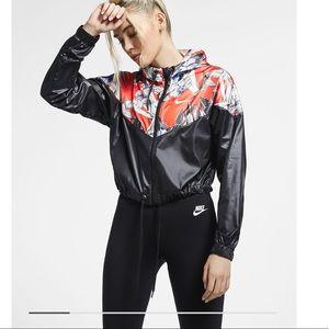 Nike Cropped Floral Jacket Windrunner
